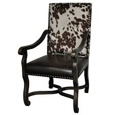 Mesquite Ranch Leather And Faux Cowhide Arm Chair