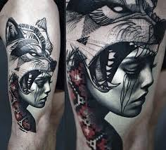 Venture Through The Woods And Discover 70 Wolf Tattoo Designs For Men Explore Ideas Like Geometric Outlines Classic Lone Wolves Howling At Moon