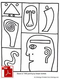 Coloring Page Featuring Art By Adolph Gottlieb