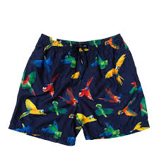 100 Coco Replublic Republic Mens Parrot Board Shorts In Navy Blue