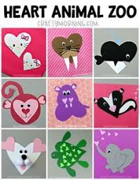 Make A Whole Heart Animal ZOO Cute Paper Crafts For The Kids To