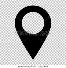 Pin Icon Vector Location Sign Flat Stock Vector