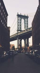 New York Bridge City Building Architecture Street IPhone 6 Plus Wallpaper