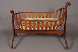 babies wooden cradle