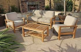 Home Design Wonderful Teak Outdoor Setting Cleaning Patio