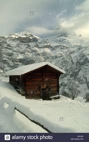 100 Log Cabins Switzerland Cabin In Mountain Snow Scene Nr Grindelwald Jungfrau