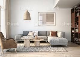 moderne skandinavische wohnzimmer interieur 3d render stockfoto und mehr bilder architektur