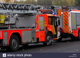 100 German Trucks HANNOVER GERMANY OCTOBER 25 2016 German Firefighting Trucks