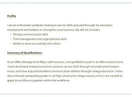 Resume Summary For Students New Example Of Entry Level Career Examples
