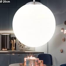 elegante hängeleuchte mit opal kugel balla