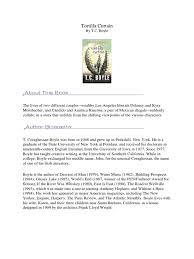 Tortilla Curtain Summary Characters by Tortilla Curtain By T C Boyle