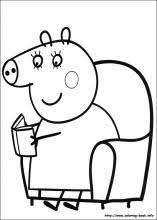 Peppa Pig Pumpkin Stencil by Peppa Pig Coloring Pages On Coloring Book Info