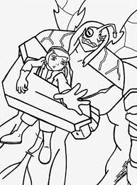 Kevin Kidnapped Gwen Tennyson Colouring Page