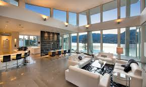 The Waterfront House Designs by Okanagan Lake Waterfront Home With Minimalist Design