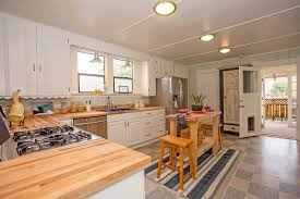 country kitchen with breakfast bar flush light in alameda ca