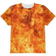 Dead Kennedys Halloween Shirt by Flames Fire Costume Halloween All Over Youth T Shirt U2013 Oldglory Com