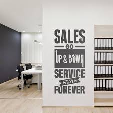 Service Stays Forever Business Quotes Office Wall Art