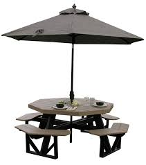 luxcraft poly octagon picnic table from dutchcrafters amish furniture