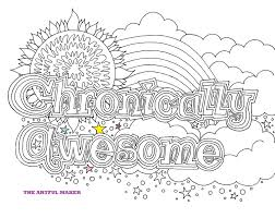Chronically Awesome Printable Coloring Page By The Artful