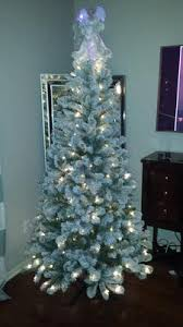 Walmart White Christmas Trees Pre Lit by Holiday Time Pre Lit 6 5 U0027 Crystal Pine Artificial Christmas Tree