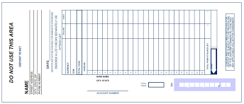 Printable PDF Deposit Slip Sample