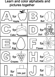 Impressive Ideas Abc Coloring Pages Alphabet Mr Printables Letter A For