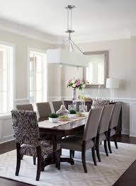 Dining Room Buffet Traditional With Modern Chandelier Patterned Cha