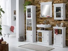 woodkings badmöbel set bogota holz weiss badset mit hochschrank badspiegel waschbeckenunterschrank hängeschrank unterschrank 5teilig komplett inkl