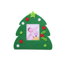 Non Woven Christmas Photo Frame Picture Holder Xmas Tree Ornaments Gift Home Decor Cheap Online