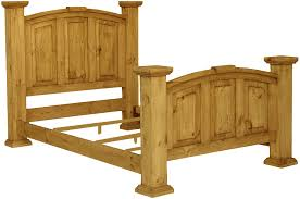 Rustic King Bed Frame With Headboard Solid Wood