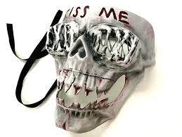 Halloween Purge 2 Mask by Amazon Com The Purge Kissme Mask 2016 Election Year Anarchy