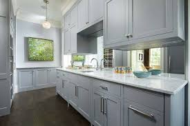 gray shaker cabinets transitional kitchen murphy co design