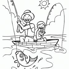 Fathers Day Fishing Printable Coloring Pages
