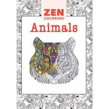 Zen Coloring Animals Adult Colouring Book