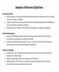 Job Objectives Resume Sample Samples Career Example Professional