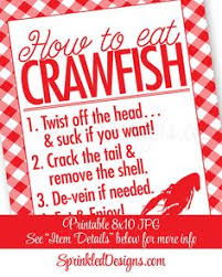 Pinterest Crawfish Boil Decorations by Crawfish Boil Decorations How To Eat Crawfish Sign Crawfish