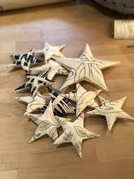 Paper Stars Craft Leftover Wallpaper Hygge