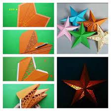 DIY 3D Paper Star Wall Lamp Shade
