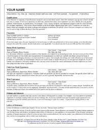 Nanny Job Resume Example Featuring Qualifications And Child Care Experience