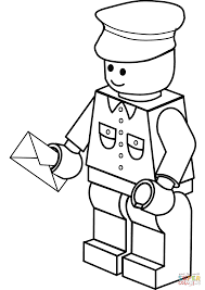 Click The Lego Postman Coloring