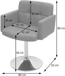 mendler esszimmerstuhl orlando küchenstuhl drehstuhl stuhl kunstleder chrom taupe grau