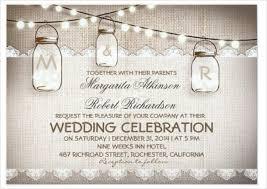 Burlap Lace String Light Vintage Wedding Invitation PSD Format
