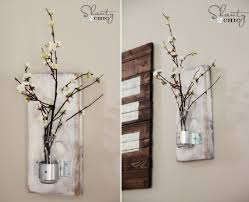 Exquisite DIY Rustic Indoor Decorative Flower Vase Wall Panel Decoration Ideas