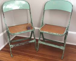 childs metal folding chair etsy