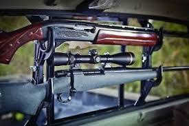 Truck Gun Rack Storage Holder No Drill Rear Window Locking Rifle