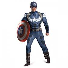 Mens Classic Captain America Winter Soldier Muscle Costume