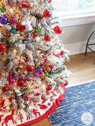 Ebay Christmas Trees With Lights christmas christmas dreamy flocked tree decoration ideas