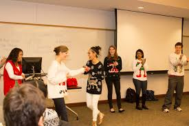 ugly sweaters cheer at elasp and ted bauer leadership certificate