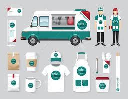 100 The Car And Truck Shop Vector Restaurant Cafe Design Set Street Food Flyer