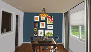 Paint Colors Living Room Accent Wall by Weafer Design Living Room Dining Room Paint Colors